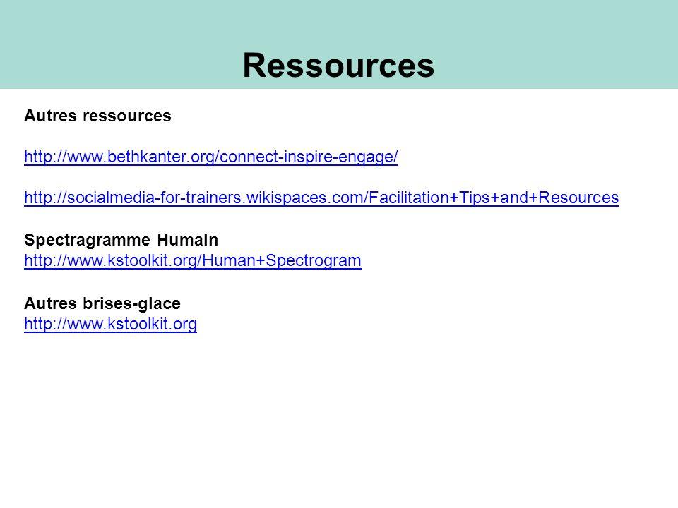 Ressources Autres ressources