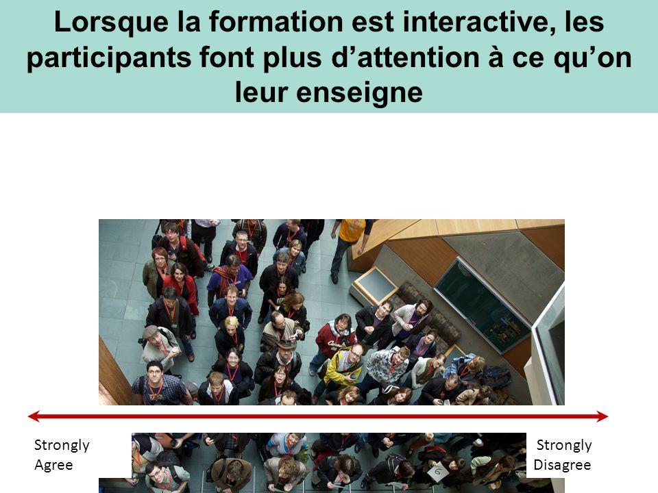 Lorsque la formation est interactive, les participants font plus d'attention à ce qu'on leur enseigne