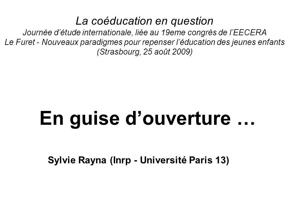 Sylvie Rayna (Inrp - Université Paris 13)