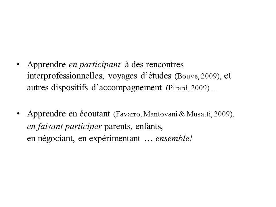 Apprendre en écoutant (Favarro, Mantovani & Musatti, 2009),
