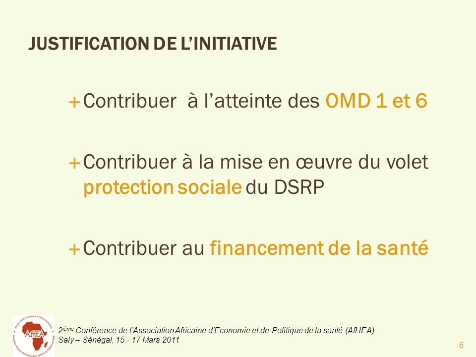 JUSTIFICATION DE L'INITIATIVE
