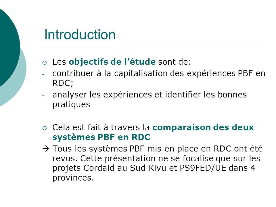 Introduction Les objectifs de l'étude sont de: