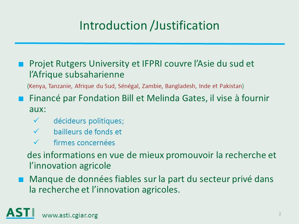 Introduction /Justification