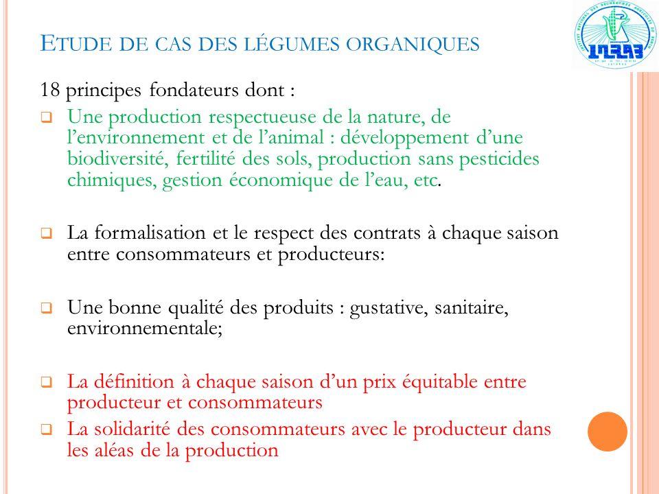 Etude de cas des légumes organiques