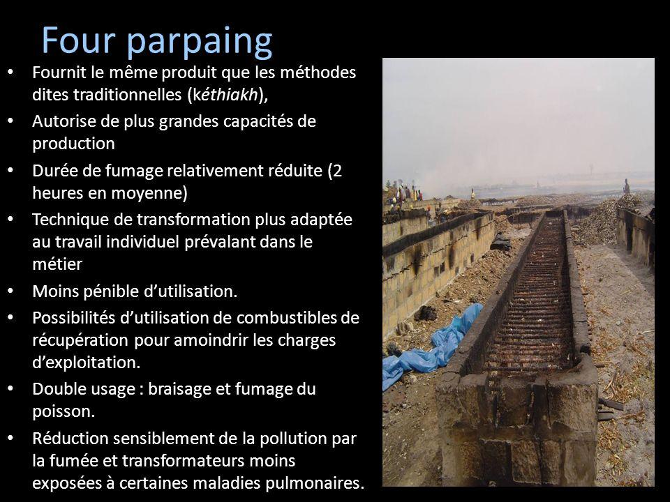 Four parpaingFournit le même produit que les méthodes dites traditionnelles (kéthiakh), Autorise de plus grandes capacités de production.