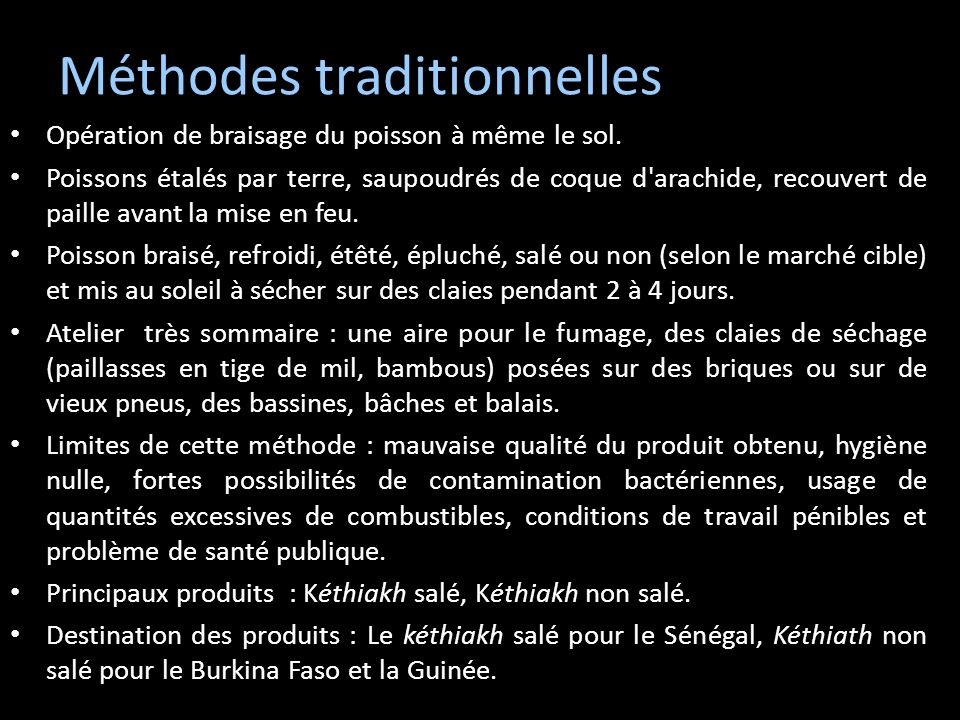 Méthodes traditionnelles