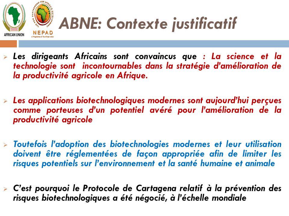 ABNE: Contexte justificatif
