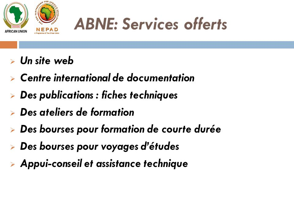 ABNE: Services offerts