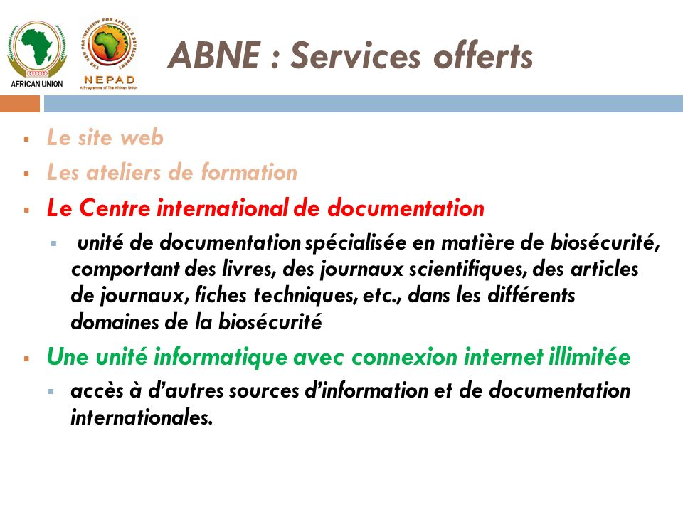 ABNE : Services offerts