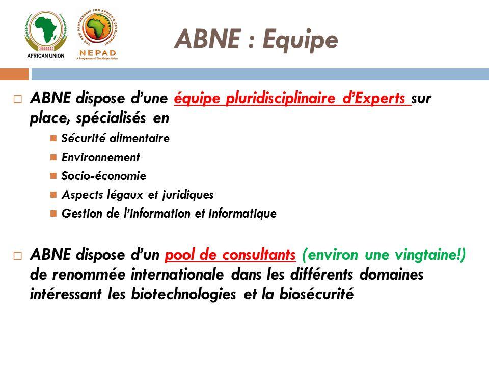 ABNE : Equipe ABNE dispose d'une équipe pluridisciplinaire d'Experts sur place, spécialisés en. Sécurité alimentaire.
