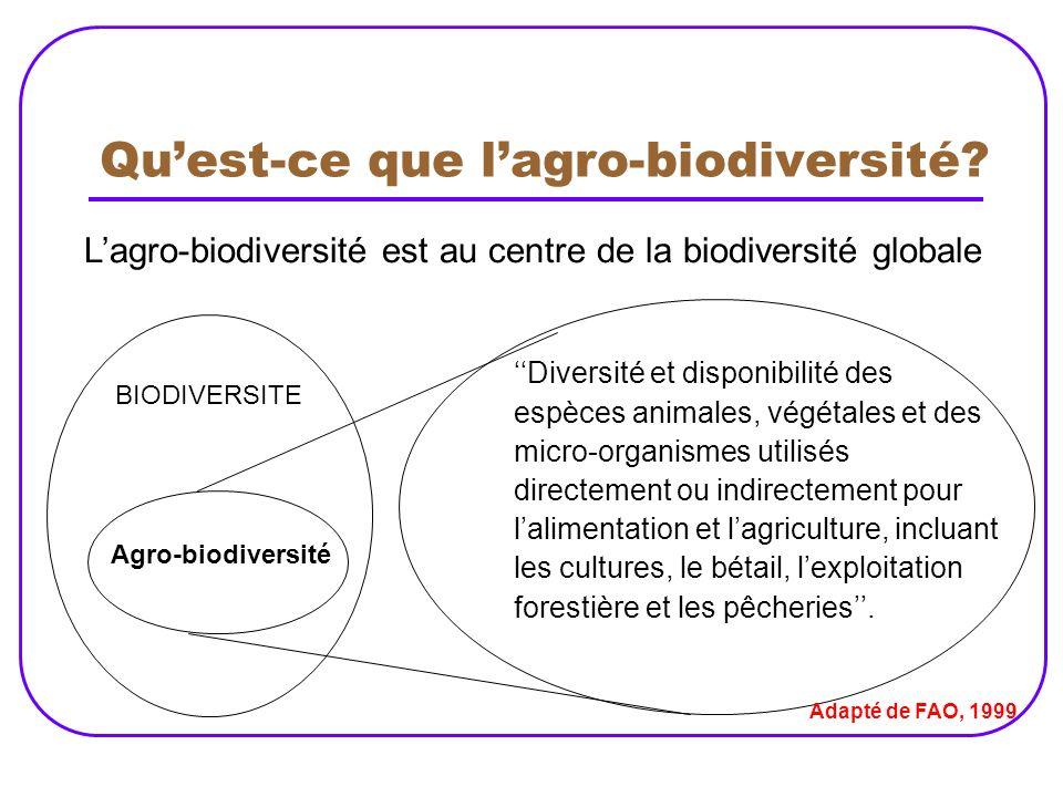 Qu'est-ce que l'agro-biodiversité