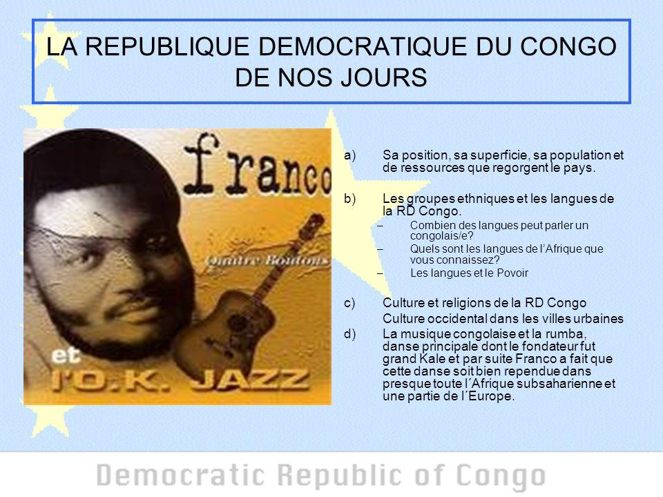 LA REPUBLIQUE DEMOCRATIQUE DU CONGO DE NOS JOURS