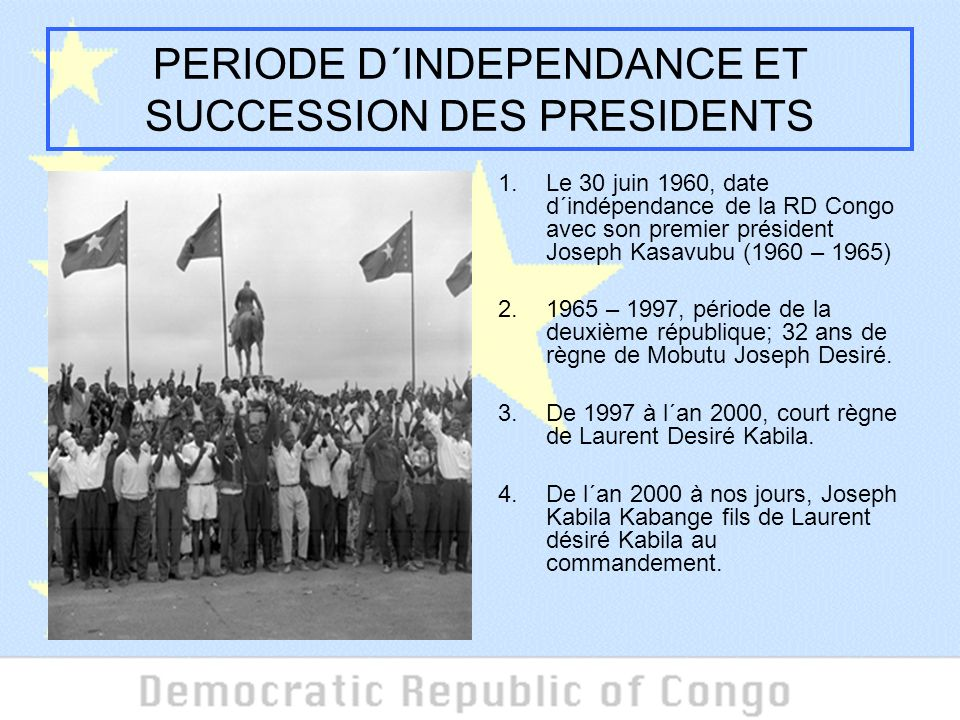PERIODE D´INDEPENDANCE ET SUCCESSION DES PRESIDENTS