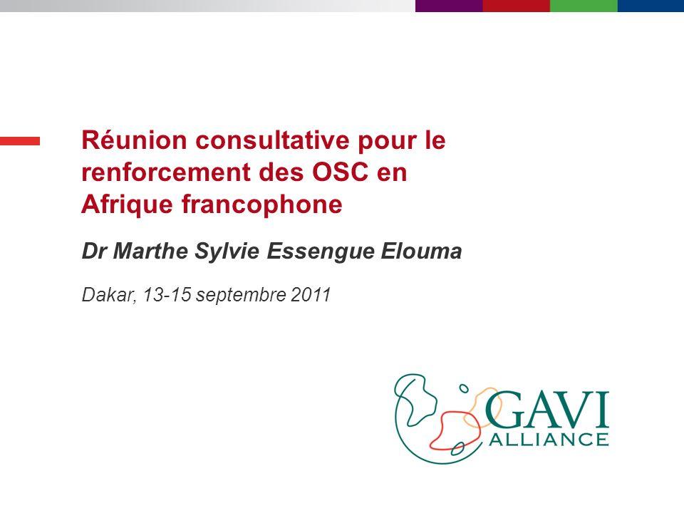 Réunion consultative pour le renforcement des OSC en Afrique francophone
