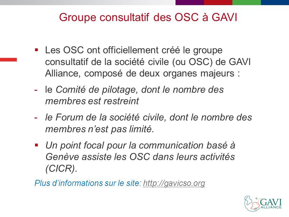 Groupe consultatif des OSC à GAVI