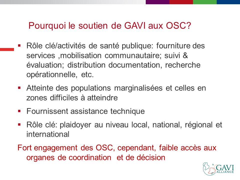 Pourquoi le soutien de GAVI aux OSC