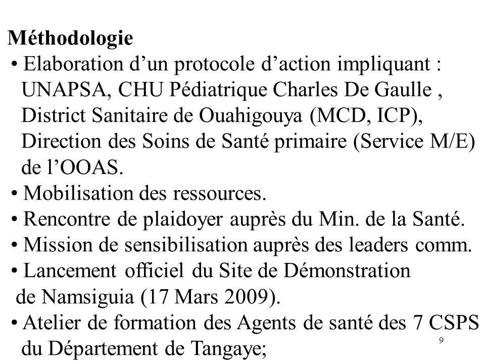 • Elaboration d'un protocole d'action impliquant :