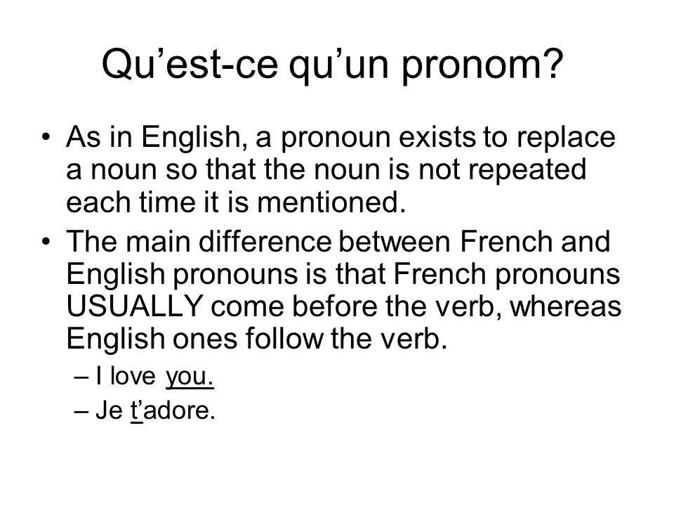 Qu'est-ce qu'un pronom