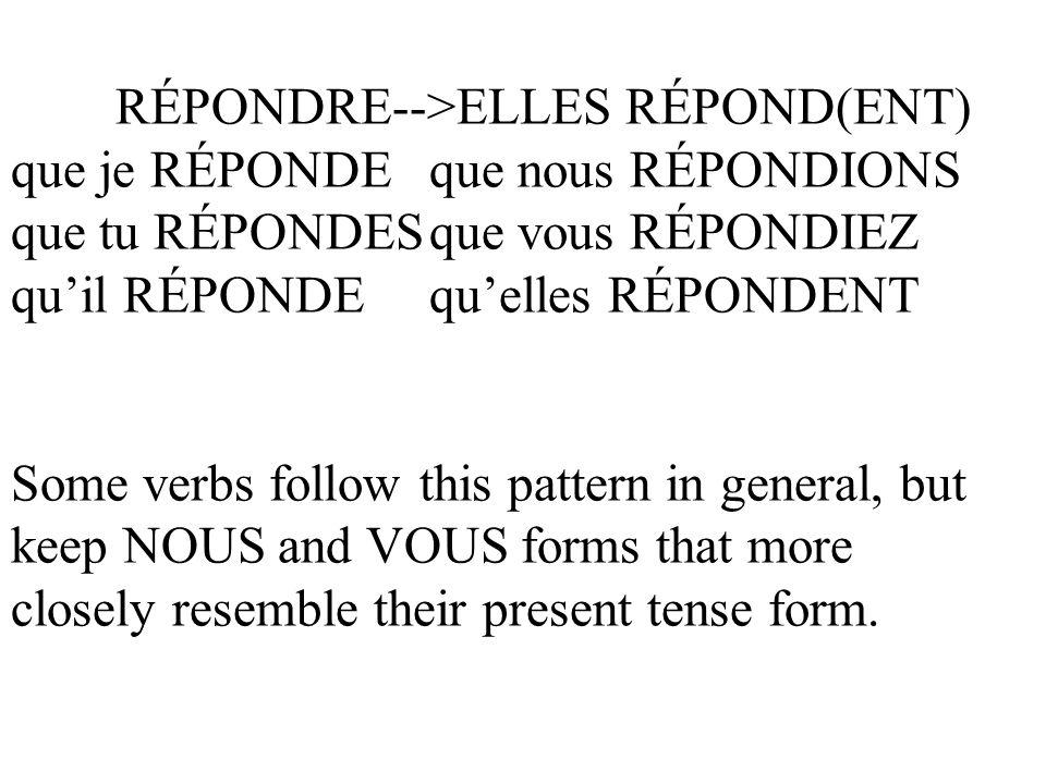 RÉPONDRE-->ELLES RÉPOND(ENT)