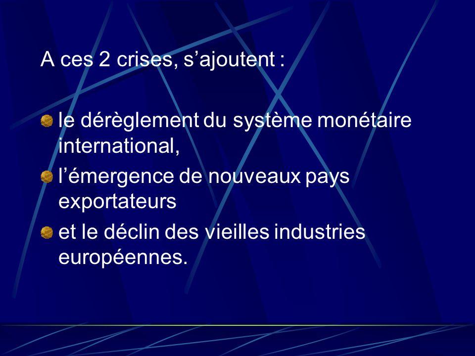 A ces 2 crises, s'ajoutent :