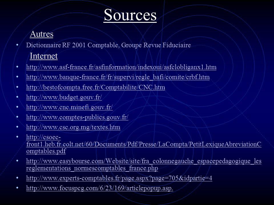 Sources Autres Internet