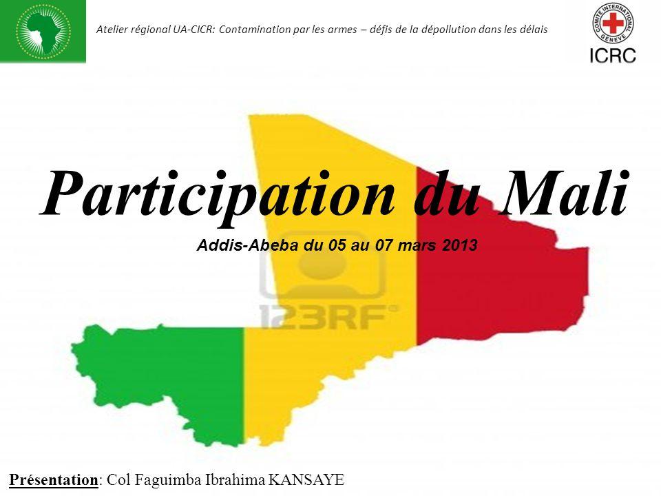 Participation du Mali Présentation du Mali