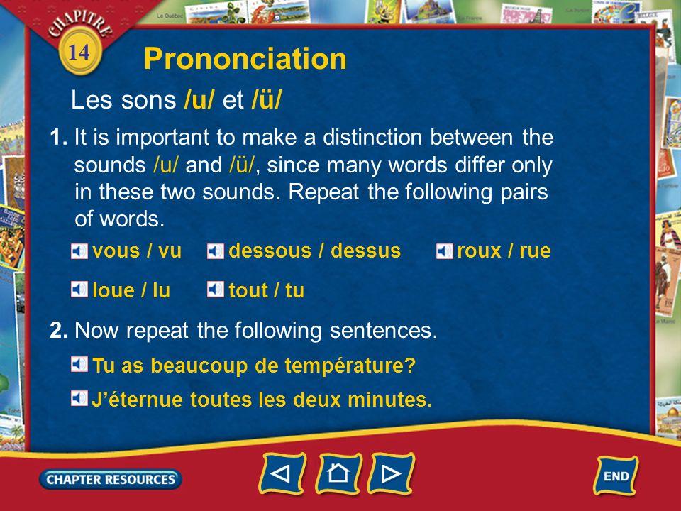 Prononciation Les sons /u/ et /ü/