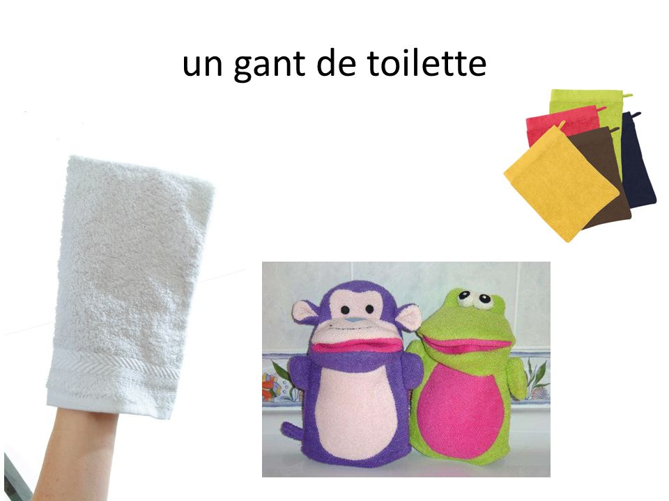 un gant de toilette
