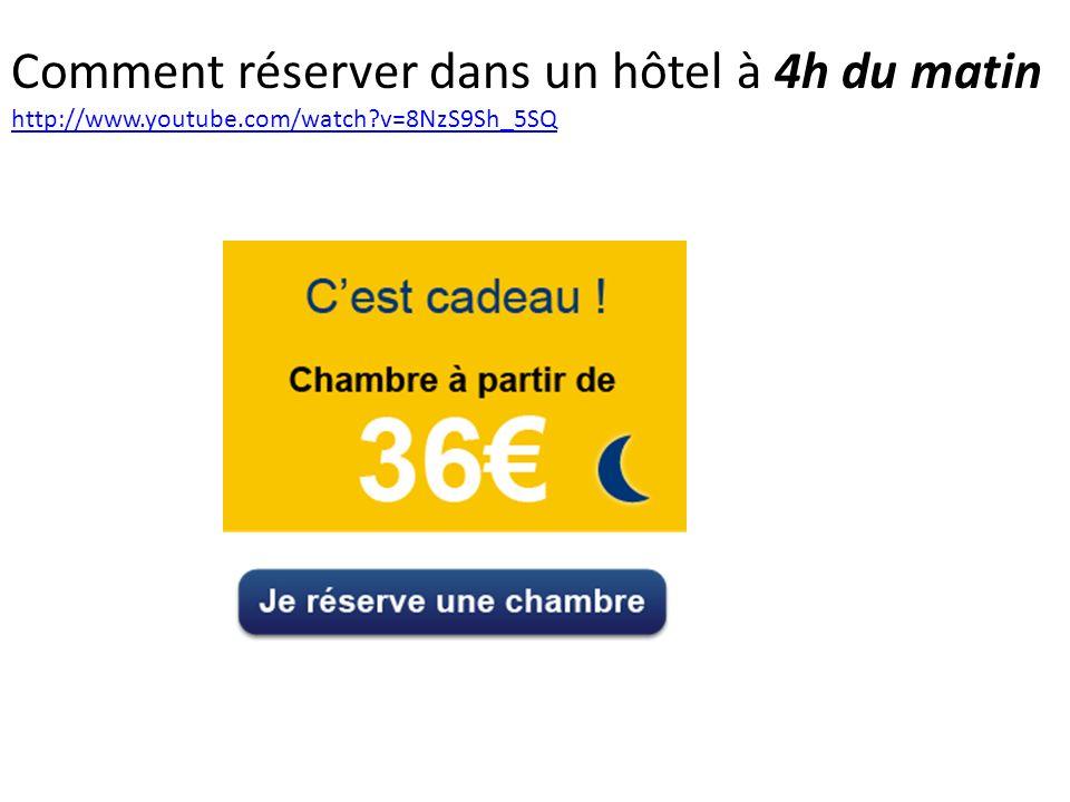 Comment réserver dans un hôtel à 4h du matin http://www. youtube
