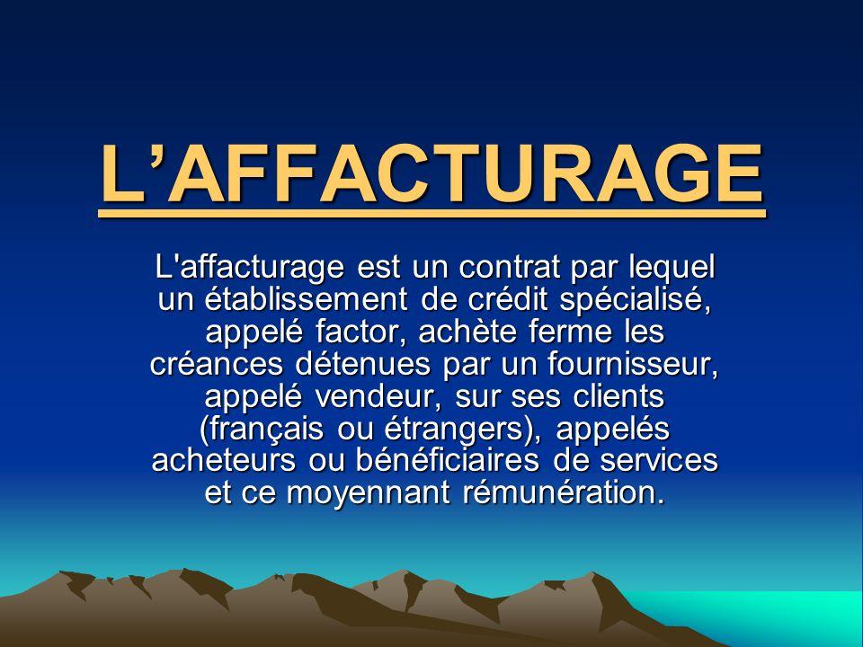 L'AFFACTURAGE