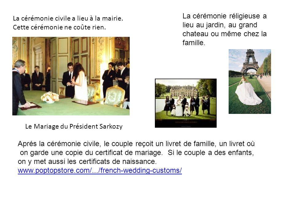 La cérémonie réligieuse a lieu au jardin, au grand chateau ou même chez la famille.