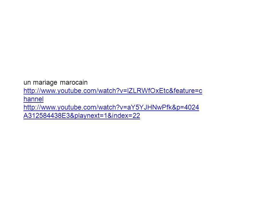 un mariage marocain http://www. youtube. com/watch
