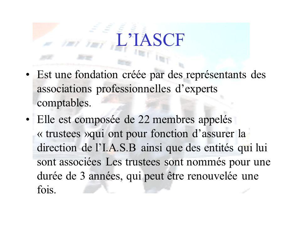 L'IASCF Est une fondation créée par des représentants des associations professionnelles d'experts comptables.