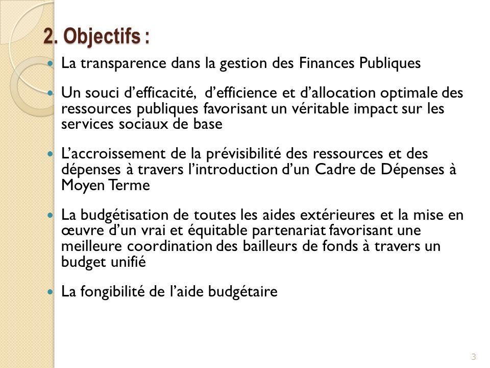 2. Objectifs : La transparence dans la gestion des Finances Publiques
