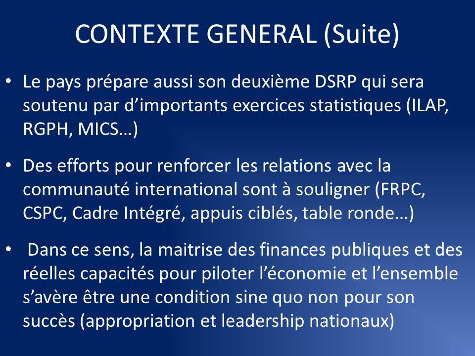 CONTEXTE GENERAL (Suite)