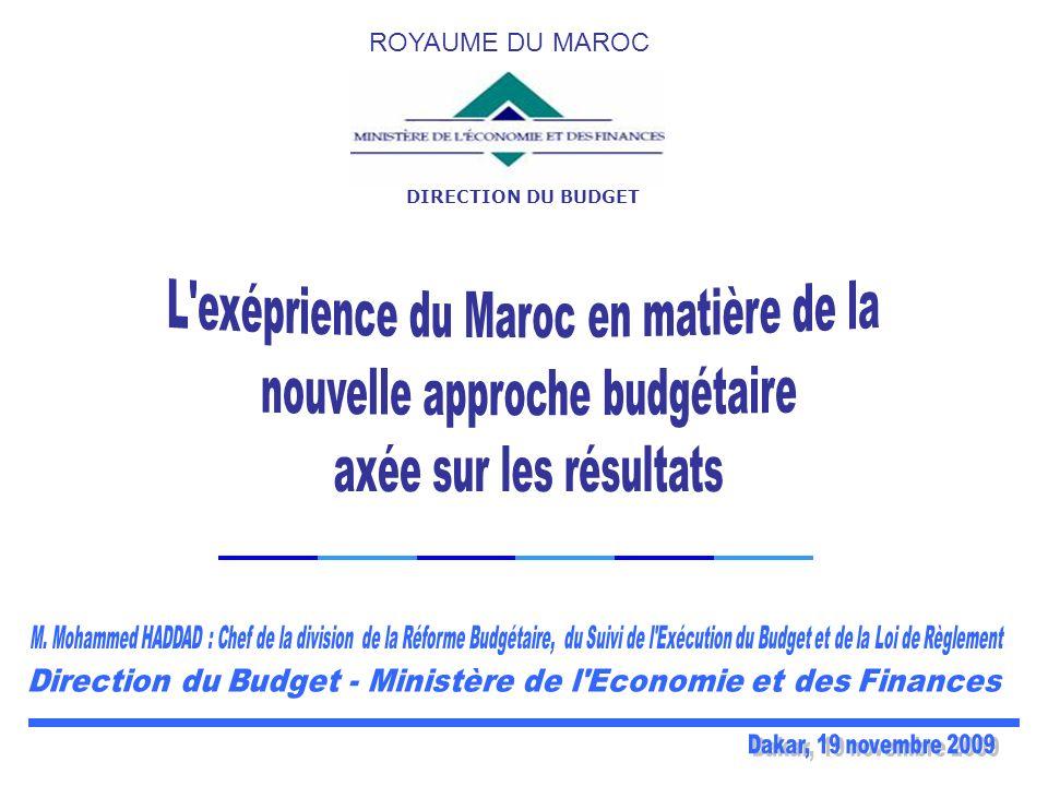 L exéprience du Maroc en matière de la nouvelle approche budgétaire