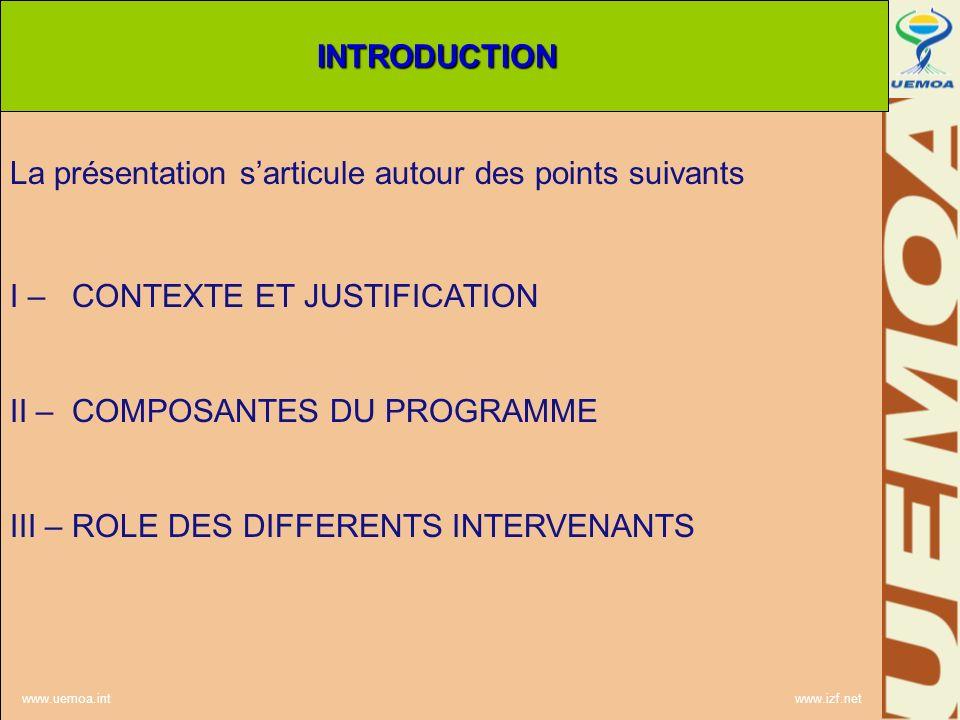 La présentation s'articule autour des points suivants