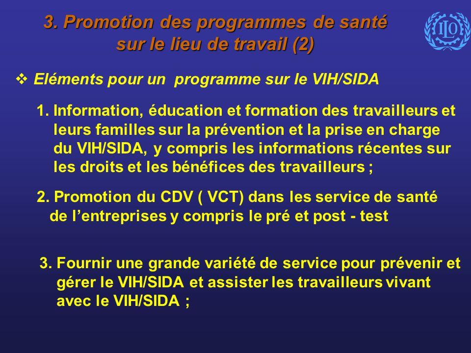 3. Promotion des programmes de santé sur le lieu de travail (2)
