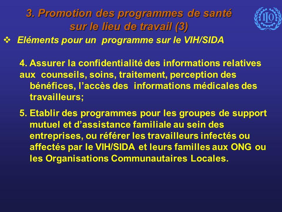 3. Promotion des programmes de santé sur le lieu de travail (3)