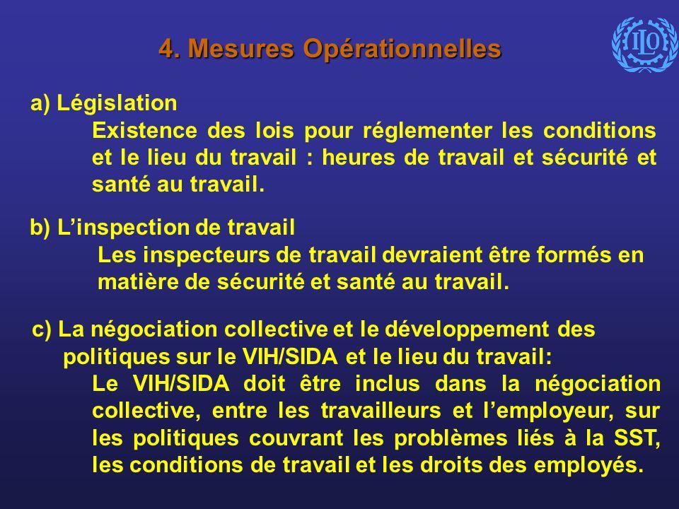 4. Mesures Opérationnelles