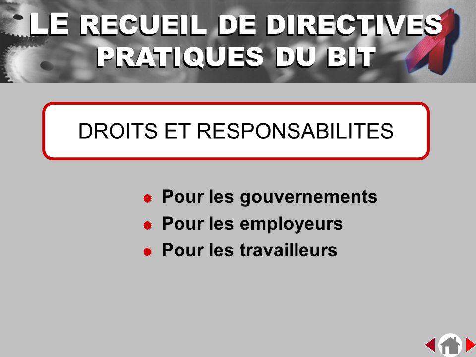 LE RECUEIL DE DIRECTIVES PRATIQUES DU BIT