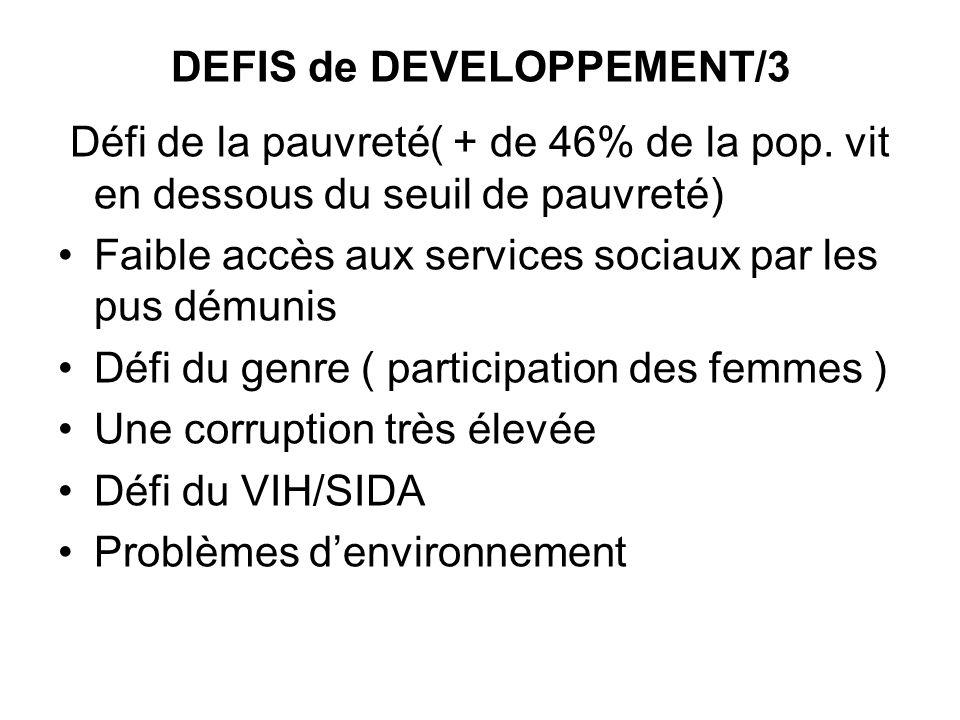DEFIS de DEVELOPPEMENT/3