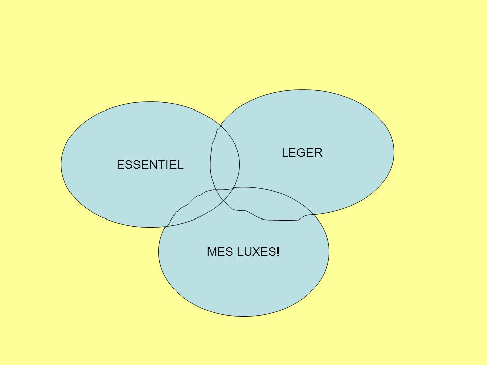LEGER ESSENTIEL MES LUXES!