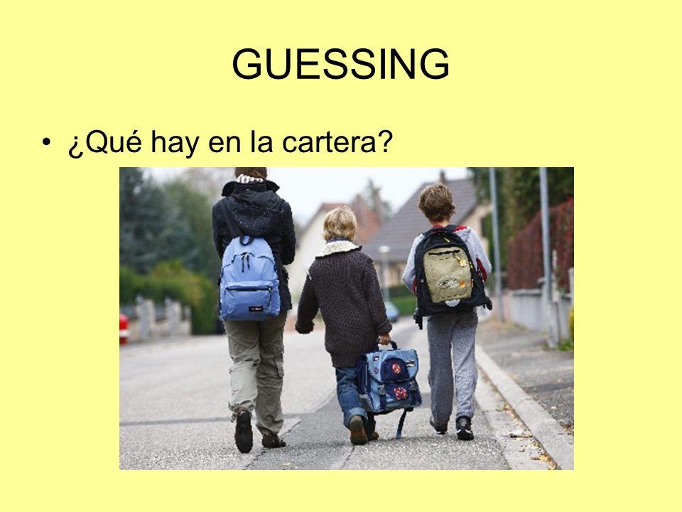 GUESSING ¿Qué hay en la cartera