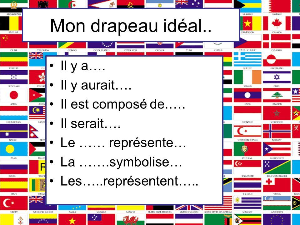 Mon drapeau idéal.. Il y a…. Il y aurait…. Il est composé de.….