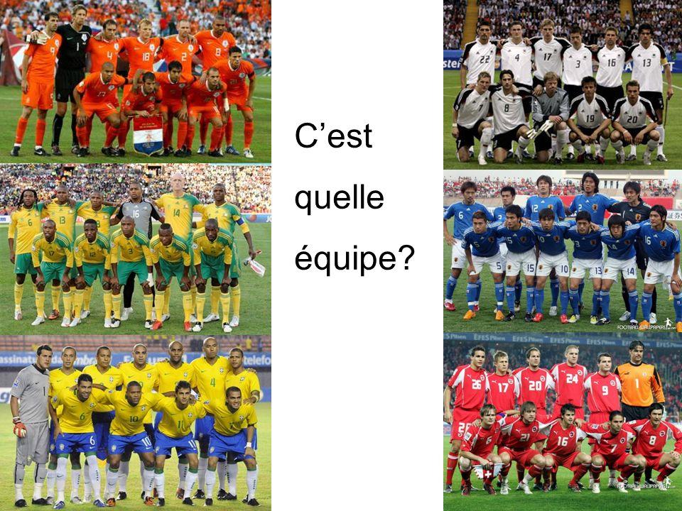 C'est quelle équipe Holland Ghana South Africa Japan