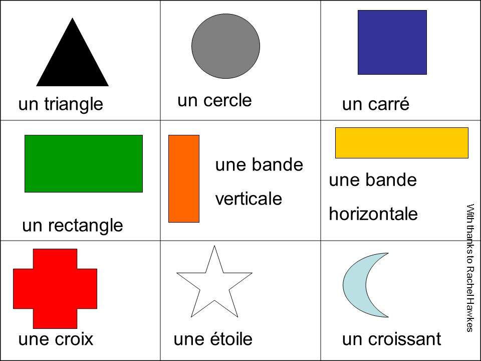 une bande verticale un cercle un triangle un carré une bande verticale