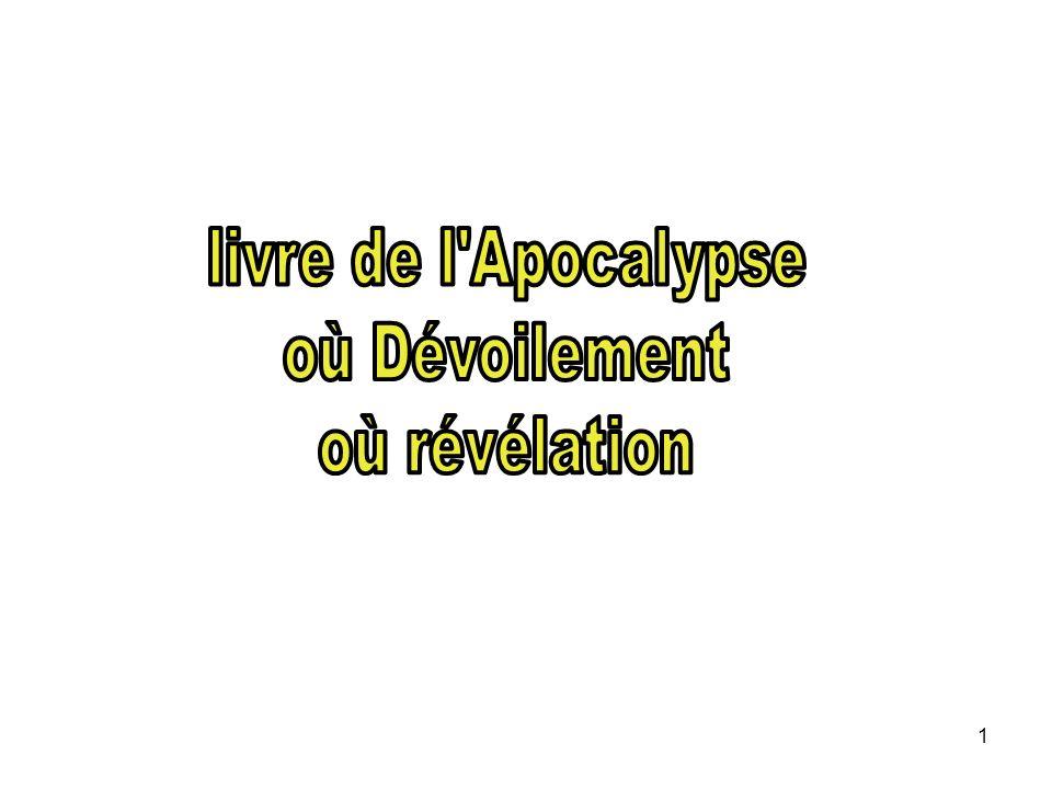 livre de l Apocalypse où Dévoilement où révélation