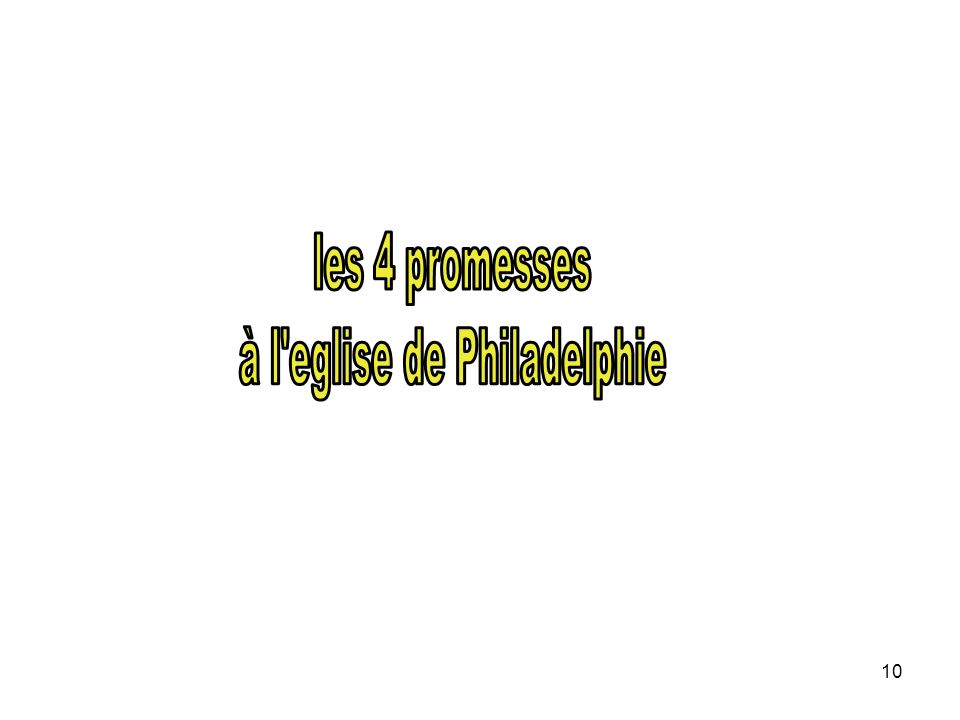 à l eglise de Philadelphie