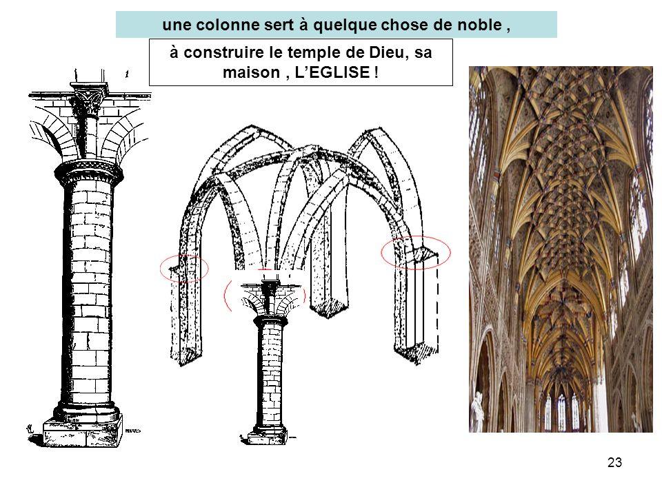 une colonne sert à quelque chose de noble ,